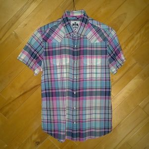 EXPRESS Short-Sleeved Button-Up Shirt